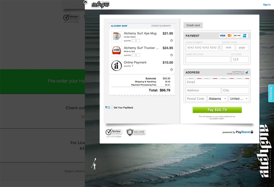Direct Checkout with PayStand Buttons