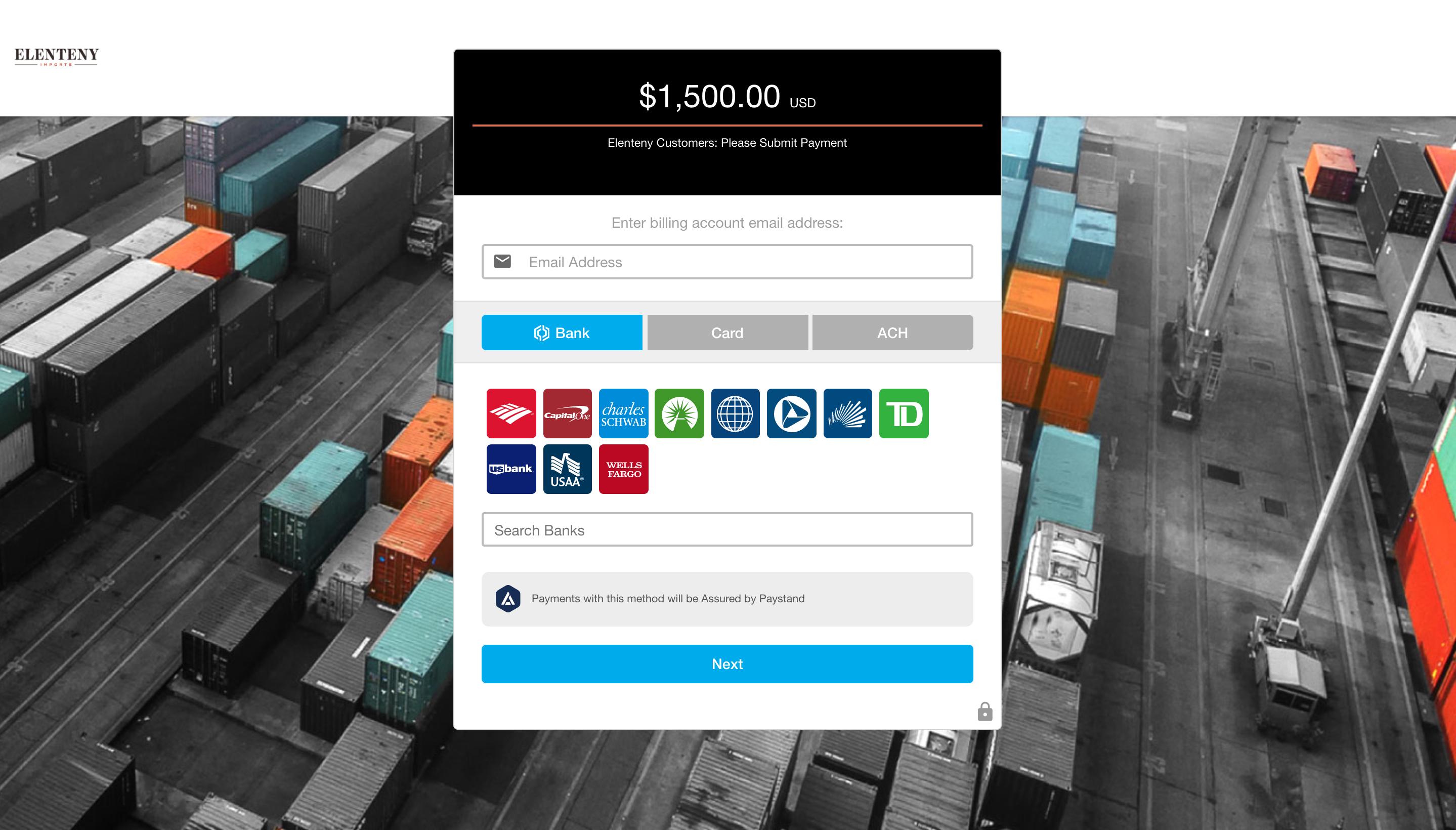 Elenteny Imports Payment Portal