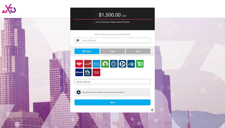 Juxto Payment Portal