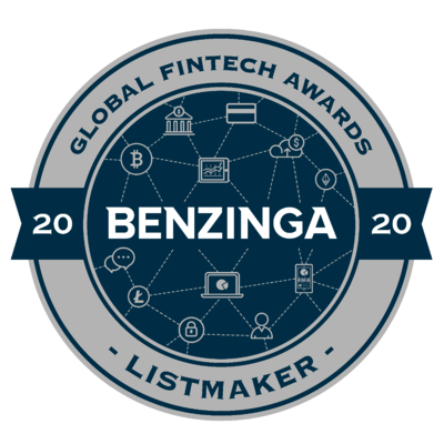 2020 Benzinga Global Fintech Awards - Listmaker Badge (Blue)