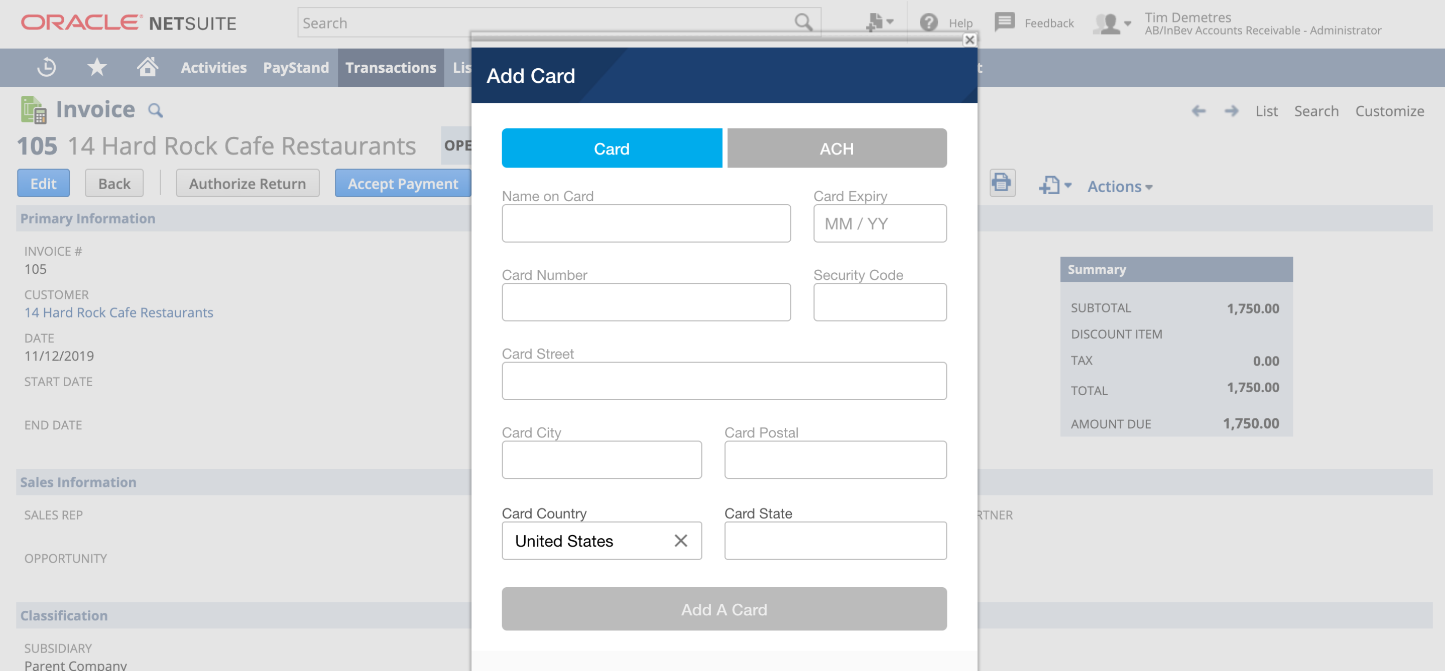 Payment Processing in NetSuite Paystand