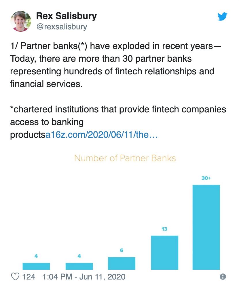 A16z VC Rex Salisbury on fintechs and partner banks