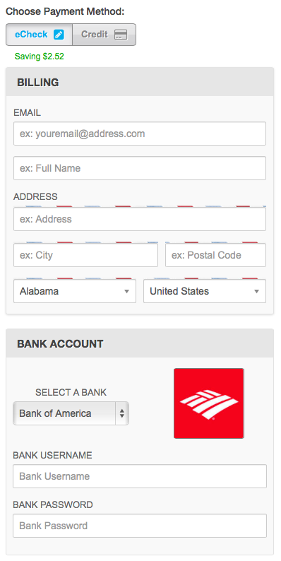 PayStand's eCheck option saves merchants money