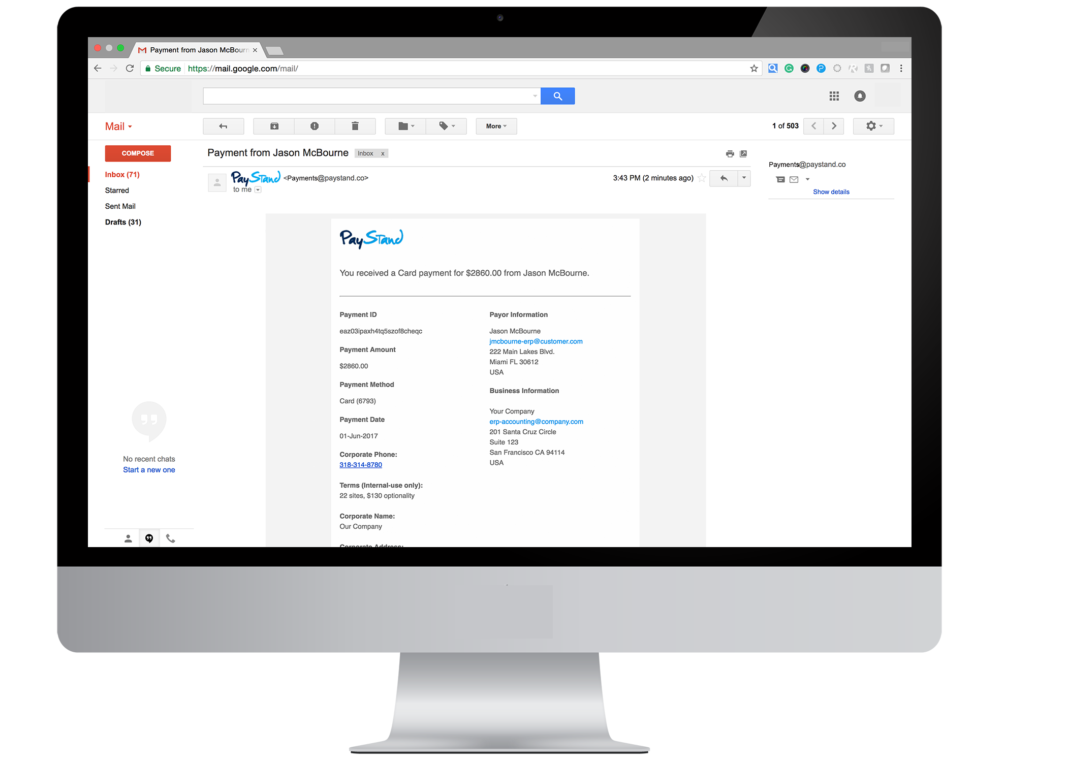how to stop gmail update notifications