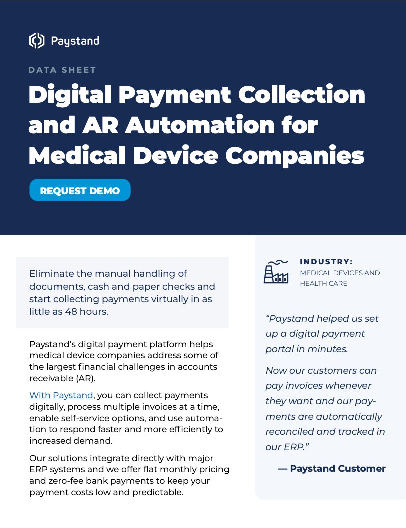 PAYSTAND_MEDICAL_DEVICE