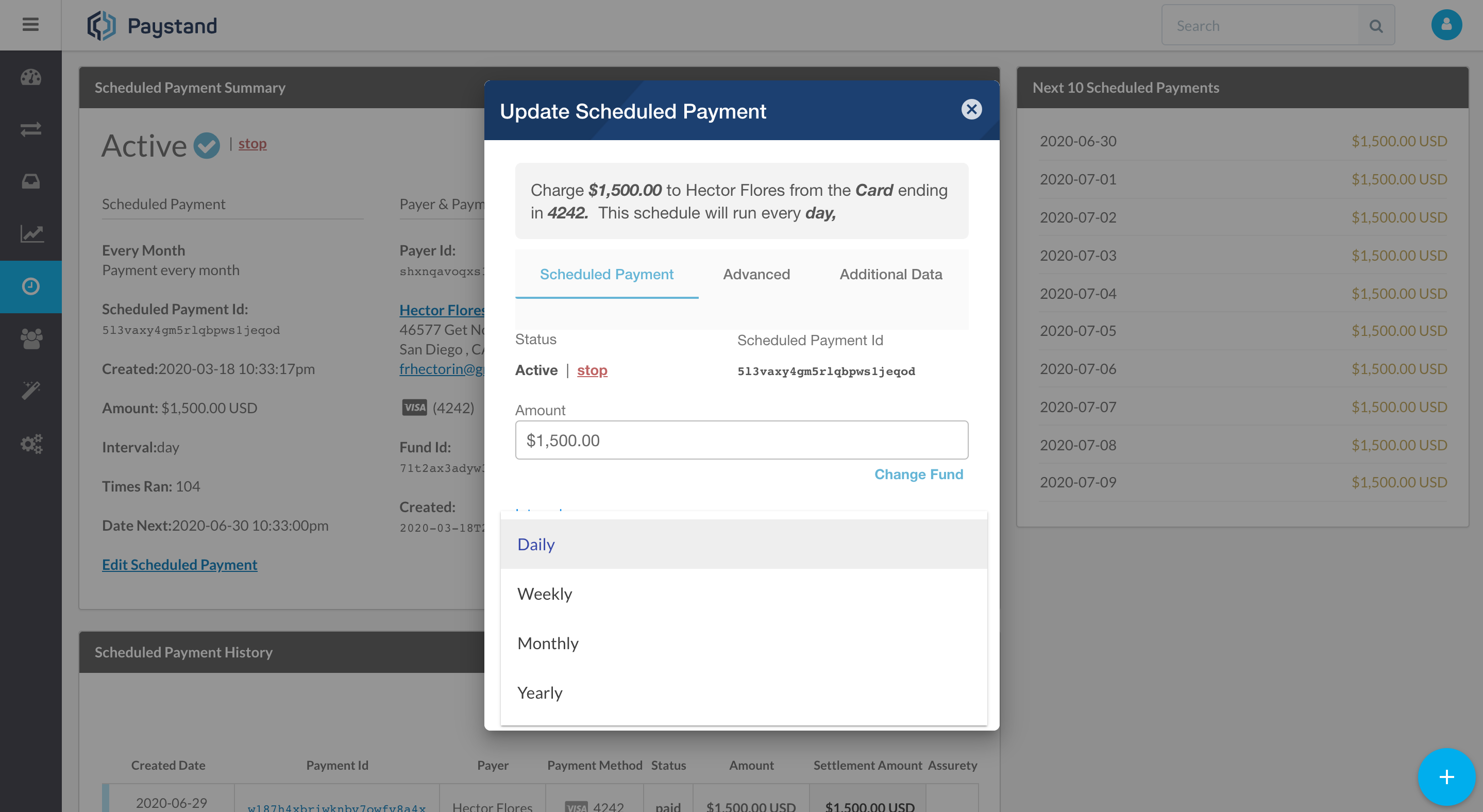 Schedule Payments - Recurring